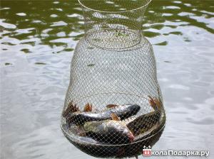 подарок рыбаку-рыболовный садок2.