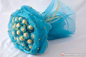 Подарок из конфет на день рождения девочке