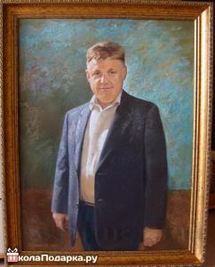 подарок мужчине на 65 летие-фотопортрет на холсте