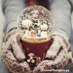 романтический подарок девушке-волшебный снежный шар2