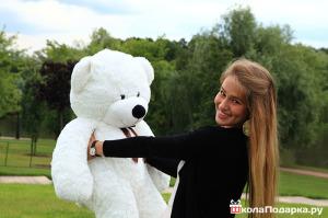 романтический подарок девушке-плюшевый медведь