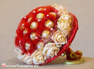 что подарить женщине скорпиону-букет из конфет