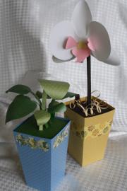 ваза из бумаги маме1