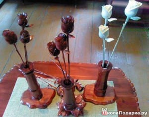 Деревянные-розы