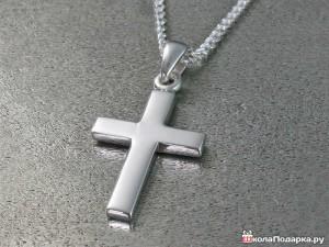 Серебряный-крестик-на-крещение