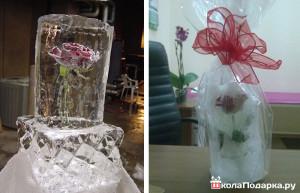 подарок девушке -ледяная роза