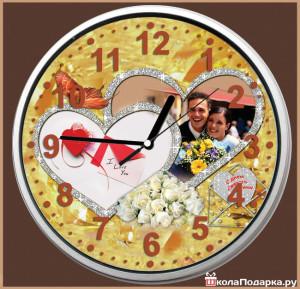 настенные часы на свадьбу