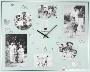 часы с семейным фото