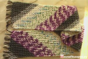шарф для дедушки