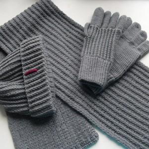 Мужской шарф, шапка, перчатки