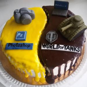 Торт своими руками для него