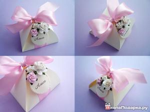 подарки гостям на свадьбе-бонбоньерка