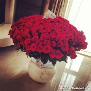 оригинальный подарок - букет роз